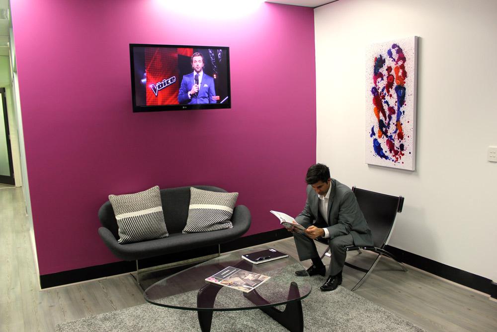 reception room art